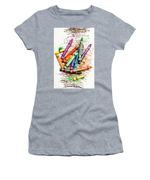 In Colours Of Broken Crayons Women's T-Shirt