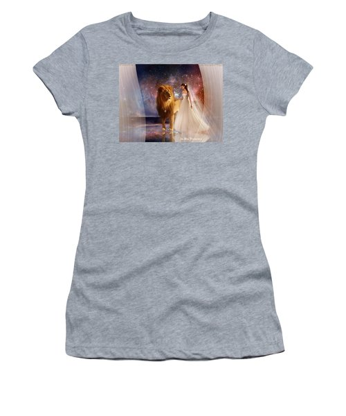 In His Presence  With Title Women's T-Shirt (Athletic Fit)
