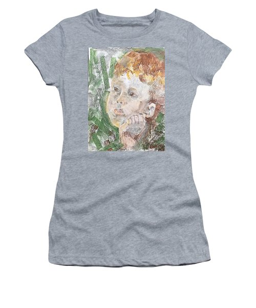 Women's T-Shirt featuring the pastel In The Eyes Of A Child by Norma Duch