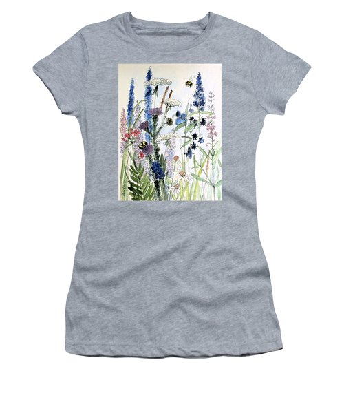 Women's T-Shirt (Athletic Fit) featuring the painting In The Garden by Laurie Rohner