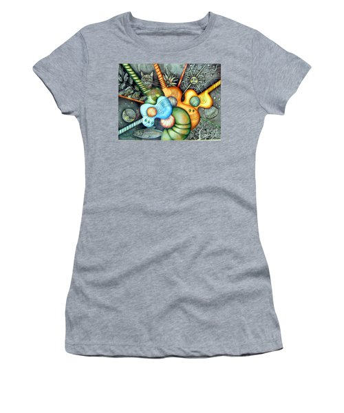 Women's T-Shirt (Junior Cut) featuring the drawing In The Key I See by Linda Shackelford