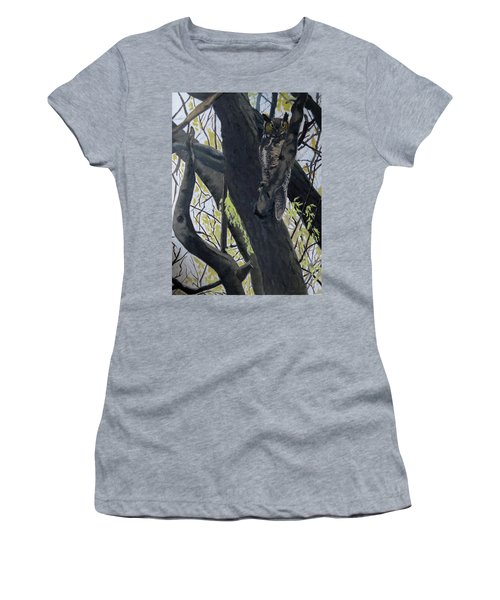 In The Shadow-ojibway Great Horn Owl Women's T-Shirt (Athletic Fit)
