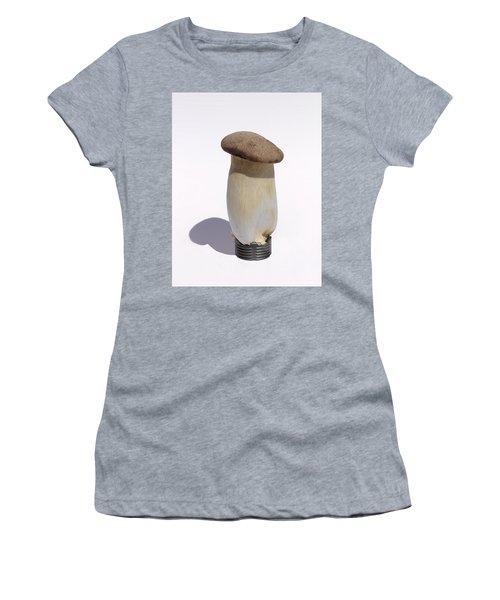 Incandescent Mushroom Women's T-Shirt (Junior Cut) by Viktor Savchenko