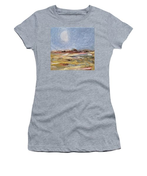 Women's T-Shirt (Athletic Fit) featuring the painting Inevitable Epoch by Judith Rhue