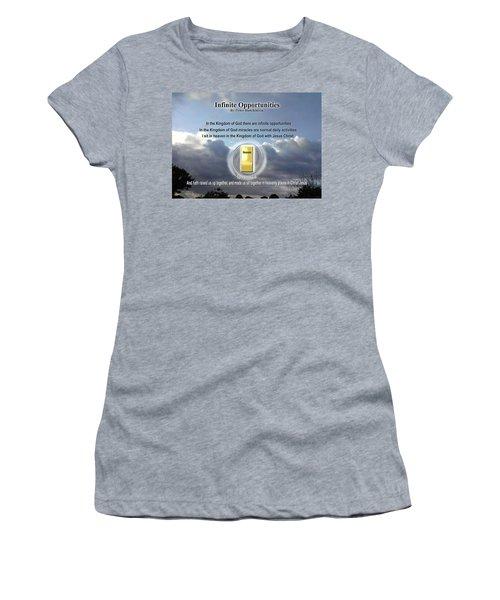 Women's T-Shirt featuring the digital art Infinite Opportunities by Peter Hutchinson
