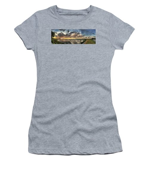 Inlet Sunrise Panorama Women's T-Shirt (Athletic Fit)