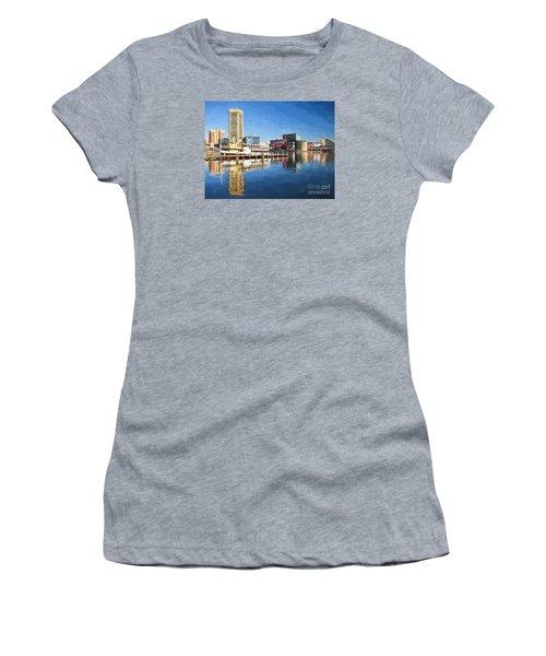 Inner Harbor Reflections  Women's T-Shirt