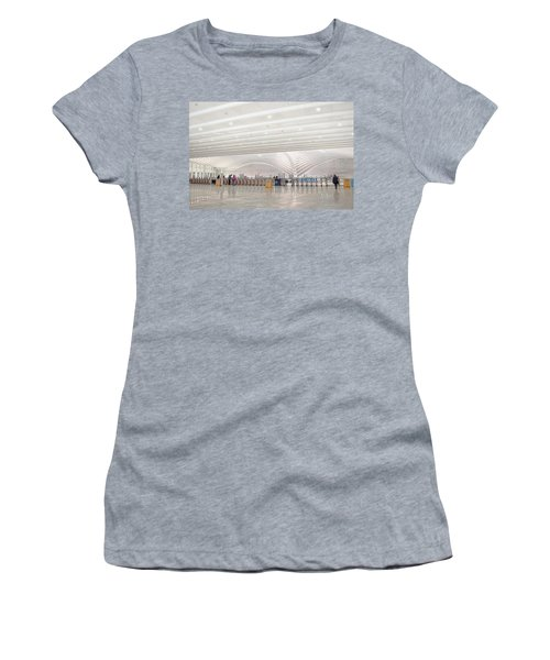 Inside The Oculus - New York City's Financial District Women's T-Shirt (Athletic Fit)
