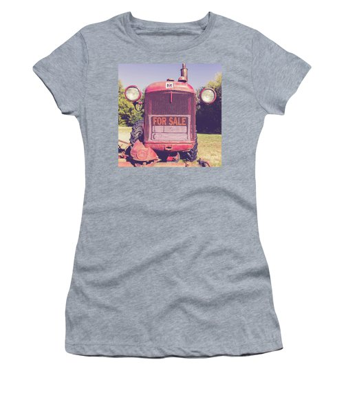 Women's T-Shirt (Athletic Fit) featuring the photograph International Harvester Farmall Cub Vintage Tractor by Edward Fielding