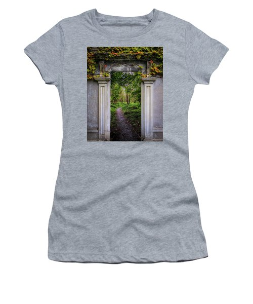 Women's T-Shirt (Athletic Fit) featuring the photograph Into The County Galway Countryside by James Truett