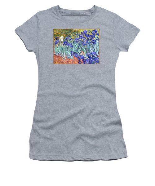 Women's T-Shirt featuring the painting Irises by Van Gogh