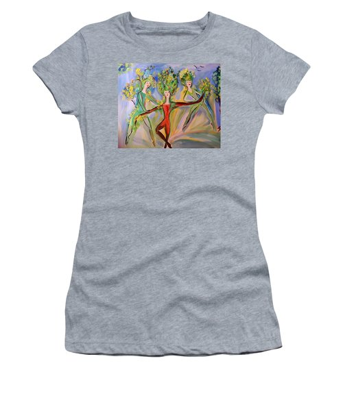 Irish Greenery  Women's T-Shirt (Junior Cut) by Judith Desrosiers