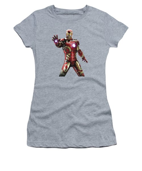 Iron Man Splash Super Hero Series Women's T-Shirt