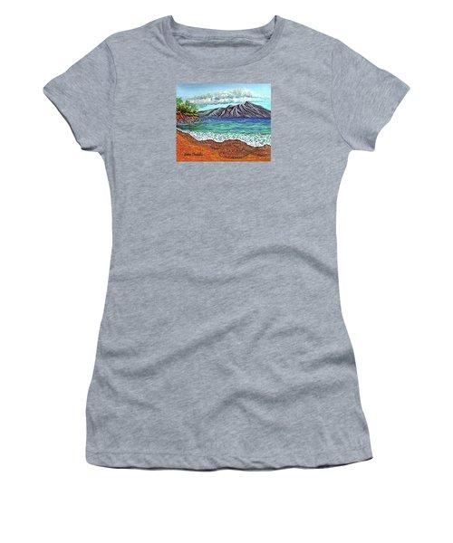 Island Time Women's T-Shirt (Junior Cut) by Debbie Chamberlin