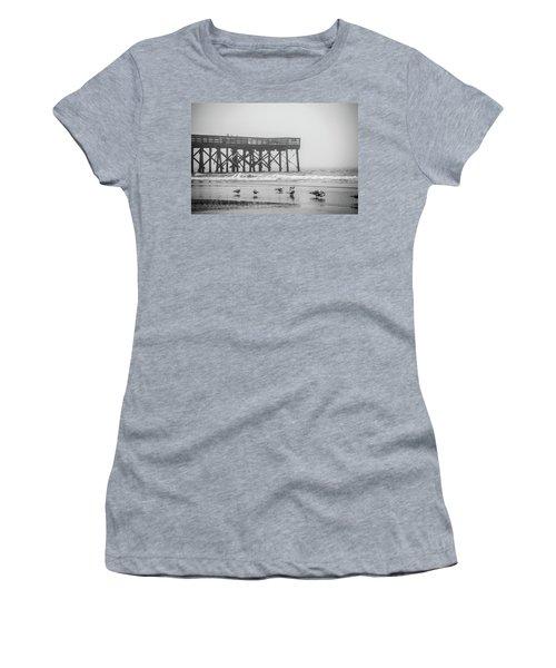 Isle Of Palms Pier And Fog Women's T-Shirt