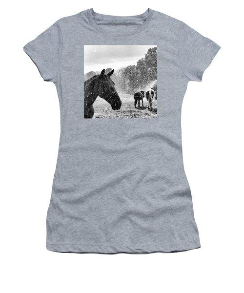 It's Raining Women's T-Shirt (Athletic Fit)