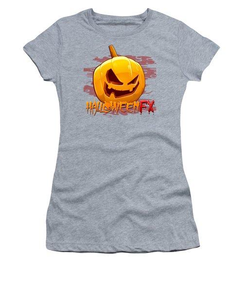 Jack O Lanterns Women's T-Shirt (Junior Cut) by Sheila Mcdonald