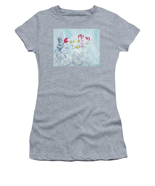 Je Vous Remerci. Thank You Collection Women's T-Shirt (Athletic Fit)