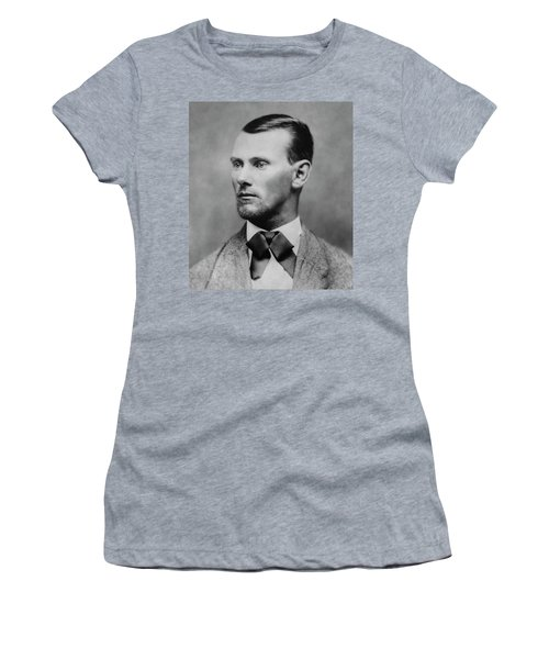 Jesse James -- American Outlaw Women's T-Shirt (Athletic Fit)