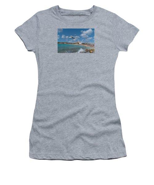 jetBlue at St. Maarten Women's T-Shirt (Junior Cut) by David Gleeson
