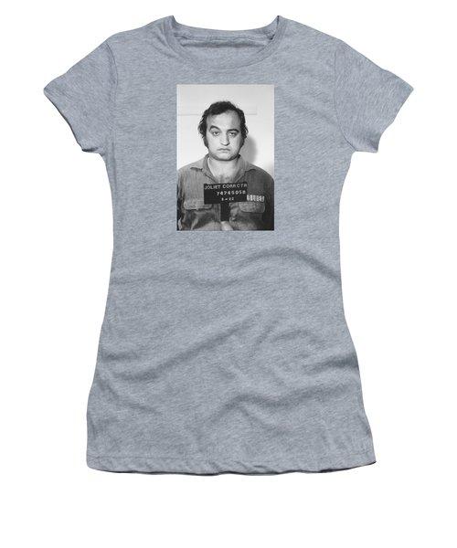 John Belushi Mug Shot For Film Vertical Women's T-Shirt (Junior Cut) by Tony Rubino