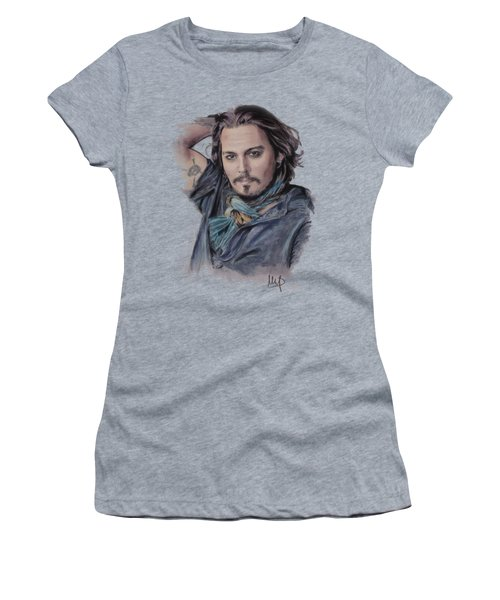Johnny Depp Women's T-Shirt (Junior Cut) by Melanie D