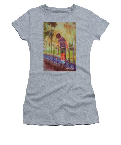 John's Reflection Women's T-Shirt (Junior Cut) by Donna Bentley