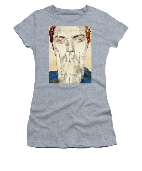 Jude Law Women's T-Shirt (Junior Cut) by Mihaela Pater