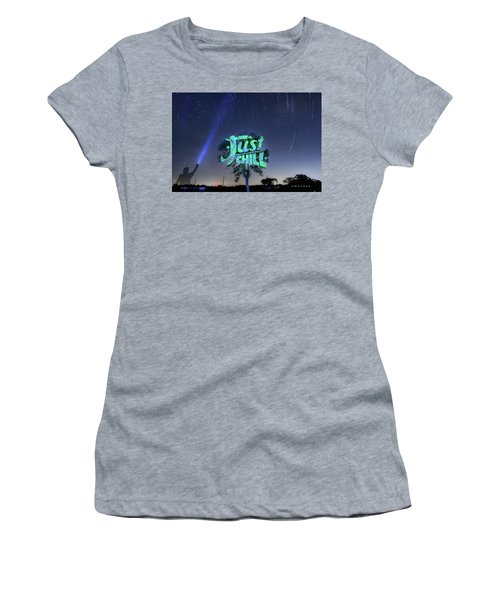 Just Chill Women's T-Shirt (Junior Cut) by Andrew Nourse