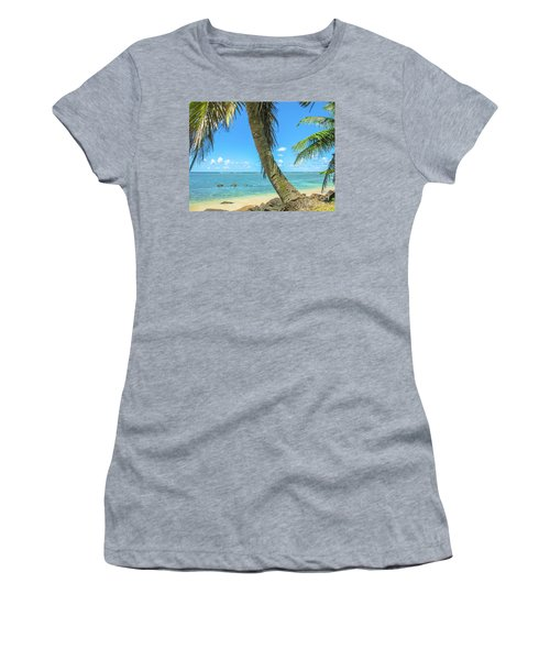 Kauai Tropical Beach Women's T-Shirt (Athletic Fit)