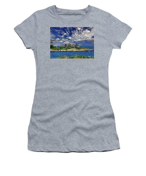 Kennebunkport, Maine - Walker's Point Women's T-Shirt (Junior Cut) by Russ Harris