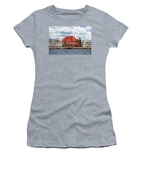 Women's T-Shirt (Athletic Fit) featuring the photograph Key West Custom House by Bob Slitzan
