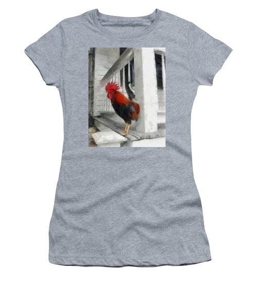 Key West Porch Rooster Women's T-Shirt