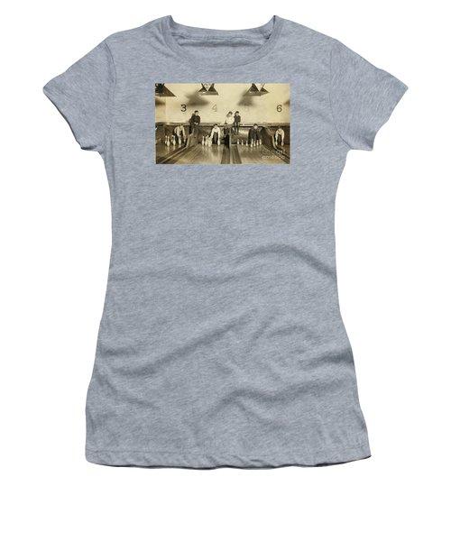 Kids Bowling Circa 1900 Women's T-Shirt