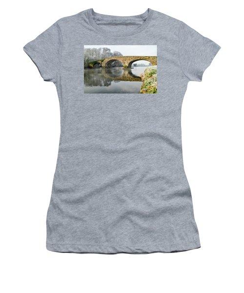 Kilsheelan Bridge In Winter  Women's T-Shirt (Athletic Fit)