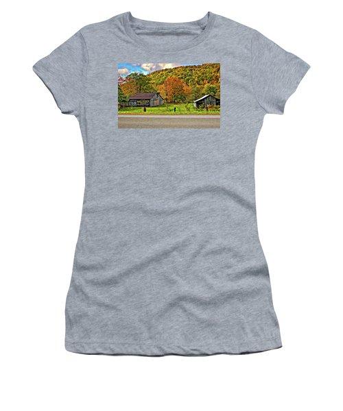Kindred Barns Women's T-Shirt (Junior Cut) by Steve Harrington