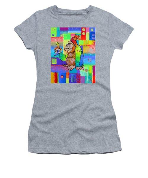King Konrad The Monkey Women's T-Shirt (Junior Cut) by Jeremy Aiyadurai