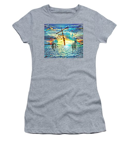 Women's T-Shirt featuring the digital art Kingdom Come by Jessica Eli