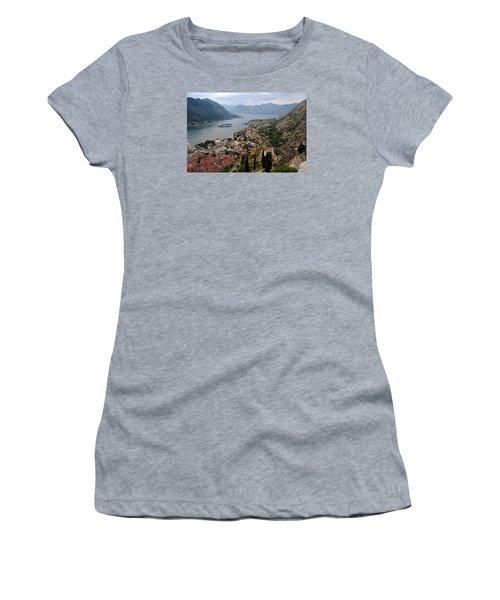 Kotor Bay Women's T-Shirt (Junior Cut) by Robert Moss