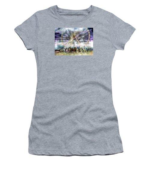 Flash Mob,k-pop, 2ne1 Women's T-Shirt (Athletic Fit)
