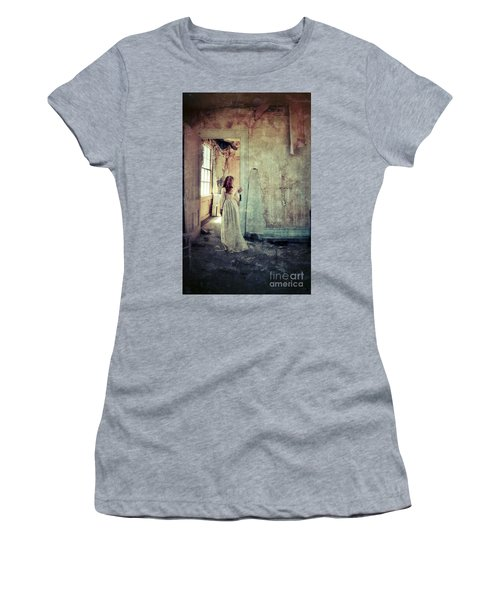 Lady In An Old Abandoned House Women's T-Shirt (Athletic Fit)
