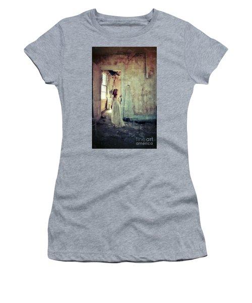 Lady In An Old Abandoned House Women's T-Shirt (Junior Cut) by Jill Battaglia