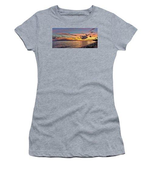 Lahaina Sunset Panorama Women's T-Shirt