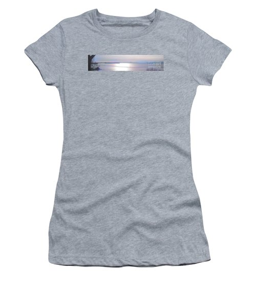 Lake Champlain South From Atop Battery Park Wall Panorama Women's T-Shirt (Junior Cut) by Felipe Adan Lerma