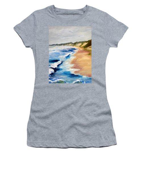 Lake Michigan Beach With Whitecaps Detail Women's T-Shirt