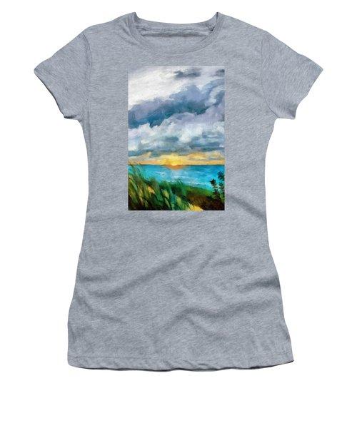 Lake Michigan Sunset Women's T-Shirt
