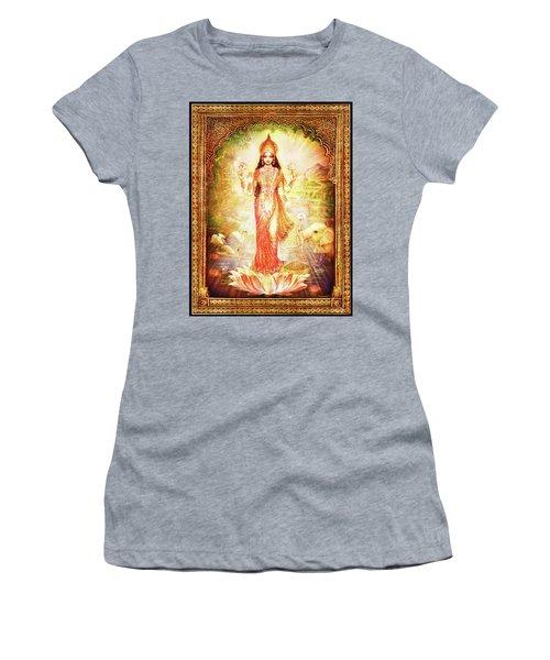 Lakshmi Goddess Of Fortune With Lighter Frame Women's T-Shirt (Athletic Fit)