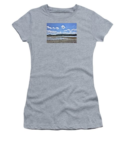 Land Bridge From Bar Harbor To Bar Island - Maine Women's T-Shirt (Athletic Fit)