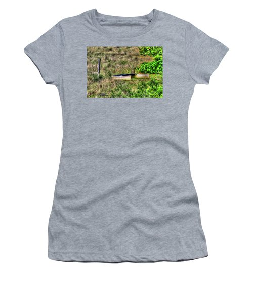 Women's T-Shirt (Junior Cut) featuring the photograph Land Locked by Tom Prendergast
