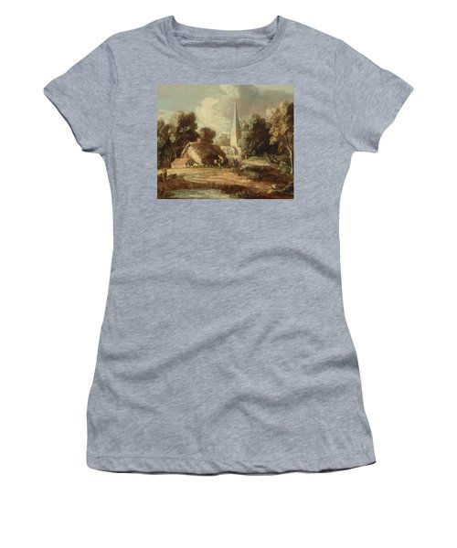 Landscape With Cottage And Church Women's T-Shirt